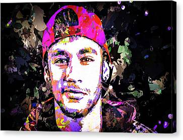 Neymar Canvas Print by Svelby Art