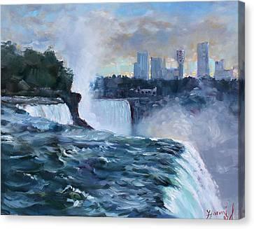 Niagara Falls Canvas Print - Niagara Falls by Ylli Haruni