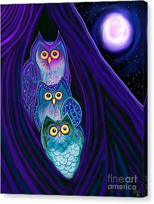 Canvas Print - 3 Night Owls by Nick Gustafson