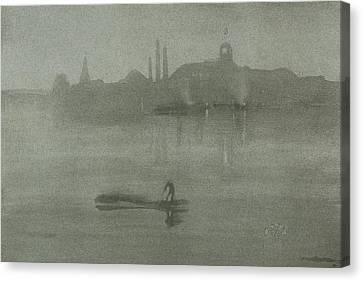 Nocturne Canvas Print by James Abbott McNeill Whistler