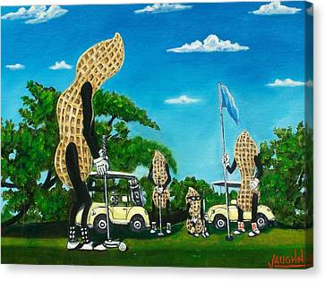 Nutz Bout Golf Canvas Print by Charles Vaughn