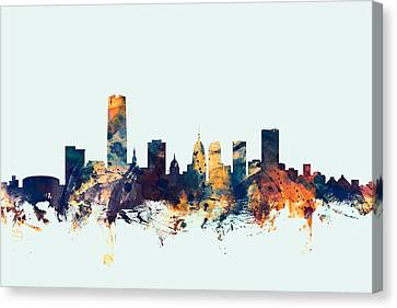 Usa Canvas Print - Oklahoma City Skyline by Michael Tompsett