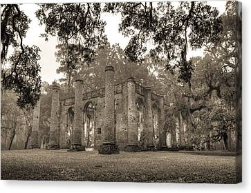Ruin Canvas Print - Old Sheldon Church Ruins by Dustin K Ryan