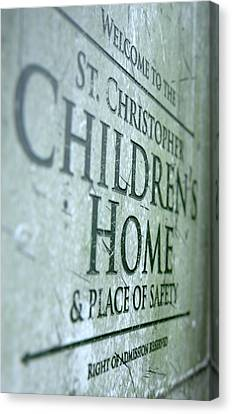 Old Home Place Canvas Print - Orphanage Signage by Allan Swart