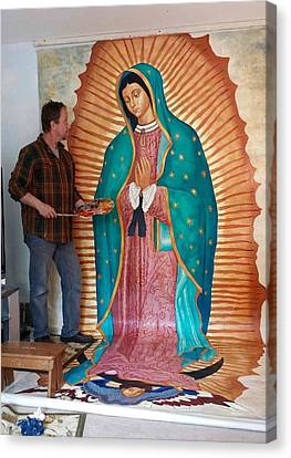 Our Lady Of Guadalupe Canvas Print by Patrick RANKIN