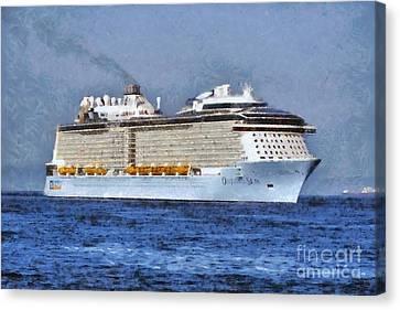 Ovation Of The Seas  Canvas Print by George Atsametakis