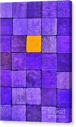 Wooden Canvas Print - Painting Of Handicraft Cubes by George Atsametakis