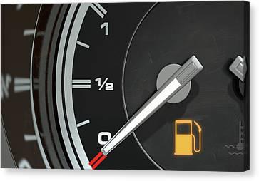 Petrol Gage Empty Canvas Print by Allan Swart