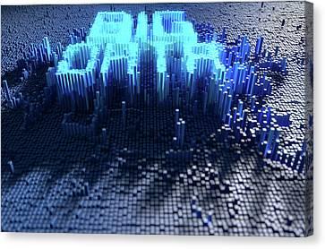 Pixel Big Data Concept Canvas Print by Allan Swart