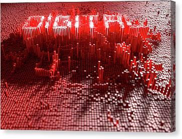 Pixel Digital Concept Canvas Print by Allan Swart