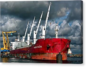 Port Of Amsterdam Canvas Print
