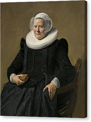 Portrait Of A Woman Canvas Print by Frans Hals