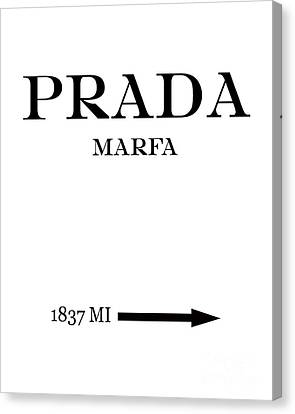 Prada Marfa Mileage Canvas Print by Edit Voros