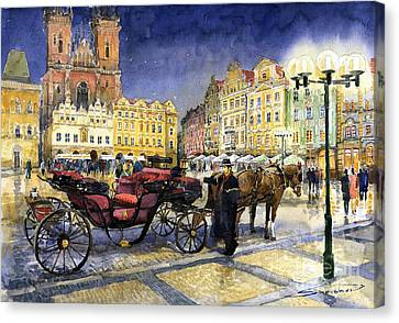 Prague Old Town Square Canvas Print