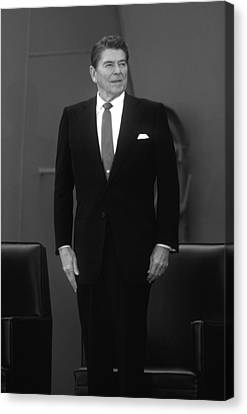 Canvas Print featuring the photograph President Ronald Reagan by War Is Hell Store