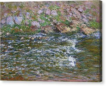 Rapids On The Petite Creuse At Fresselines Canvas Print
