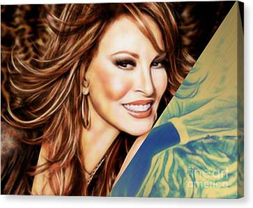 Movie Art Canvas Print - Raquel Welch Collection by Marvin Blaine