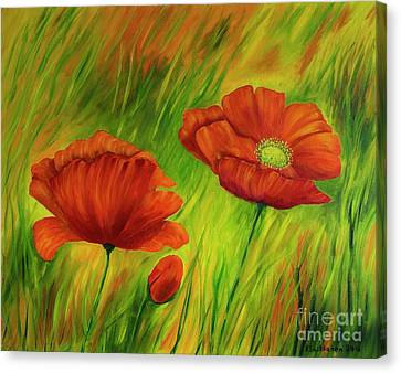 Red Poppies IIi Canvas Print by Veikko Suikkanen