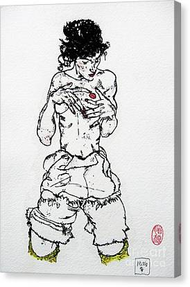 Remembering Schiele Canvas Print by Roberto Prusso