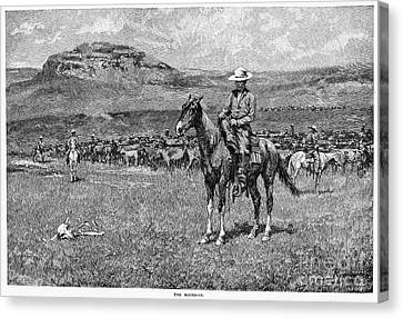 Remington: Cowboy, 1888 Canvas Print by Granger