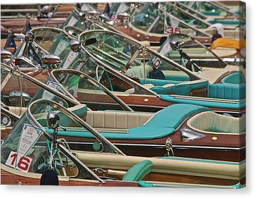 Riva Runabouts Canvas Print by Steven Lapkin