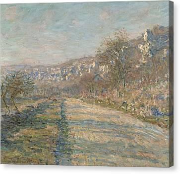Road Of La Roche Guyon Canvas Print by Claude Monet