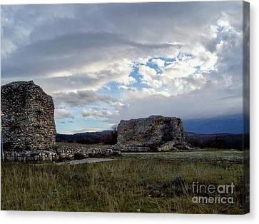 Roman Ruins Canvas Print by Judy Kirouac