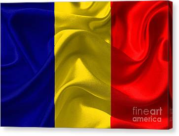 Romania Flag Canvas Print by Frederick Holiday