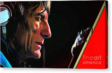 Guitarist Canvas Print - Ronnie Wood Collection by Marvin Blaine
