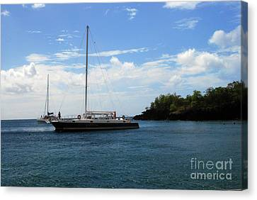 Canvas Print featuring the photograph Sail Boat by Gary Wonning