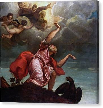 Saint John The Evangelist On Patmos Canvas Print
