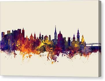 Salzburg Austria Skyline Canvas Print by Michael Tompsett