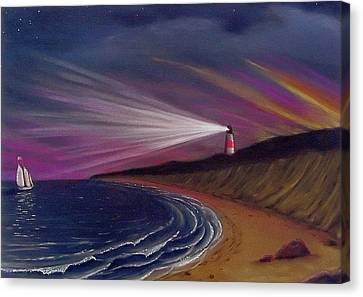 Sankaty Head Lighthouse Nantucket Canvas Print by Charles Harden