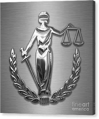 Scales Of Justice Collection Canvas Print