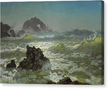 Seal Rock, California Canvas Print by Albert Bierstadt