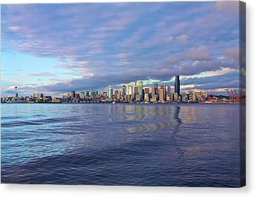 Seattle Skyline Cityscape Canvas Print