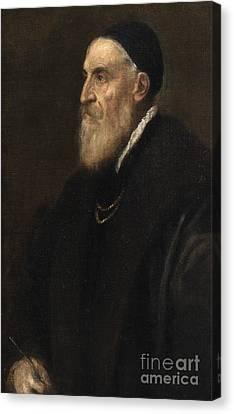Half-length Canvas Print - Self Portrait by Titian