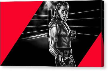 Michael Canvas Print - Shawn Michaels Wrestling Collection by Marvin Blaine