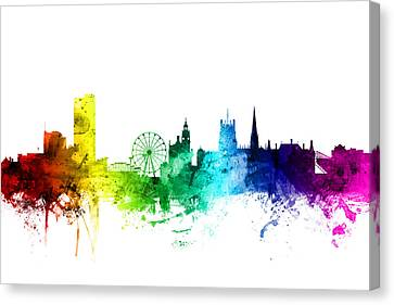 Sheffield England Skyline Canvas Print by Michael Tompsett