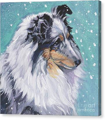 Canvas Print featuring the painting Shetland Sheepdog by Lee Ann Shepard