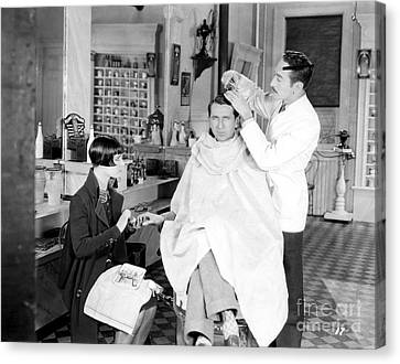 Silent Still: Barber Shop Canvas Print by Granger