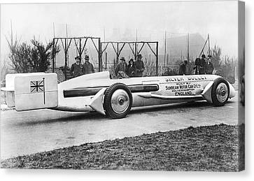 Silver Bullet Race Car Canvas Print by Underwood Archives