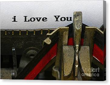 3 Simple Words Canvas Print by Paul Ward