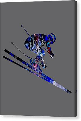 Skiing Collection Canvas Print