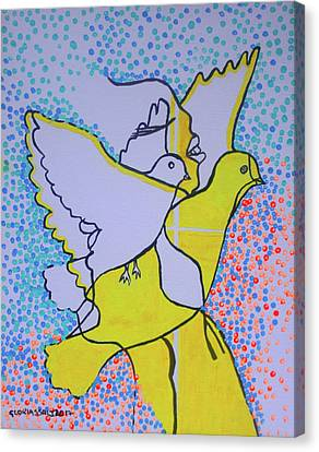 Slain In The Holy Spirit Canvas Print by Gloria Ssali