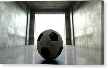 Soccer Ball Sports Stadium Tunnel Canvas Print by Allan Swart