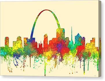 St Louis Missouri Skyline Canvas Print by Marlene Watson