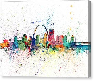 Missouri Canvas Print - St Louis Missouri Skyline by Michael Tompsett