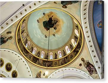 St. Nicholas Greek Orthodox Cathedral,tarpon Springs, Florida Canvas Print by Dawna Moore Photography