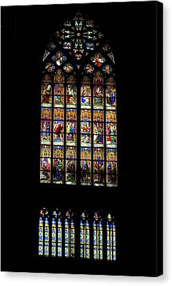 Stained Glass - Cologne Cathedral - Germany Canvas Print by Jon Berghoff